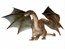 picture of creatures  - The dragon is a legendary creature with reptilian traits and wings featured in myths in many cultures - JPG