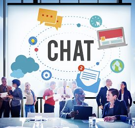 pic of chat  - Chat Chatting Online Messaging Technology Concept - JPG