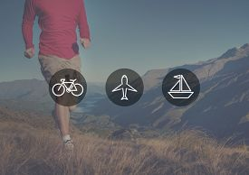image of transportation icons  - Transportation Transport Icon Travel Journey Trip Concept - JPG