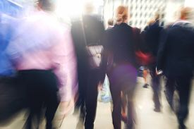 picture of commutator  - Commuter Business People Commuter Crowd Walking Concept - JPG