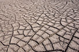 stock photo of drought  - Drought at the Bisti Badlands a giant area approx - JPG