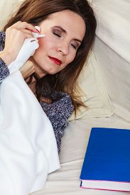 stock photo of deprivation  - Health balance sleep deprivation concept - JPG