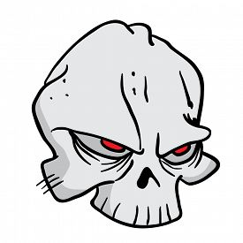 picture of skull cross bones  - skull cartoon illustration - JPG