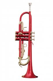 stock photo of wind instrument  - classical music wind instrument trumpets - JPG
