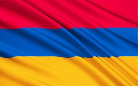 foto of armenia  - The national flag of Armenia the Armenian Tricolor or Yeraguyn - JPG