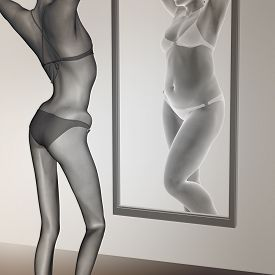 picture of emaciated  - Concept or conceptual 3D woman - JPG