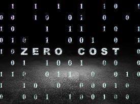 picture of zero  - Finance concept - JPG