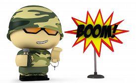 image of grenades  - 3D Cartoon character - JPG