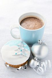 picture of motif  - Silver and blue theme christmas - JPG
