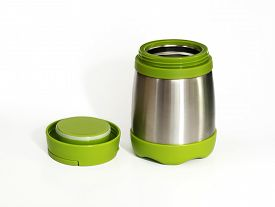 picture of thermos  - Green thermos travel tumbler - JPG