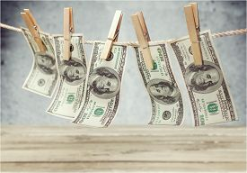 image of clotheslines  - Money Laundering Currency Clothesline Laundry Dollar Clean Clothespin - JPG