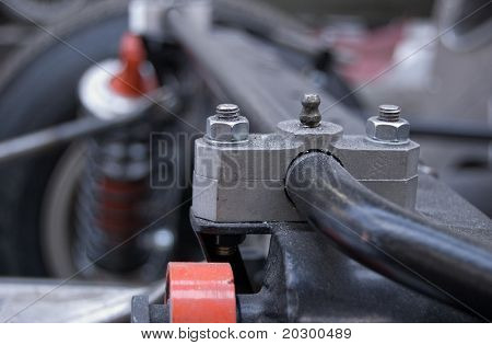 Torsion Bar Clamp, with Grease Nipple, on a Car Suspension