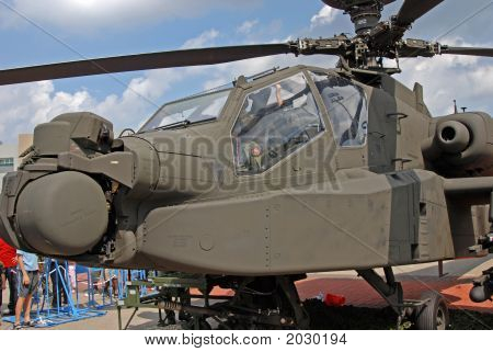 Apache Fighter In The Military Camps