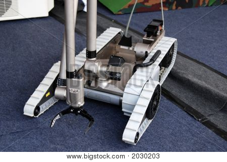 Small Military Robot In The Army Camps