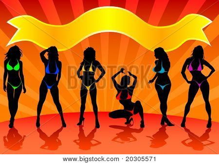 image of girls in bikinis on stage