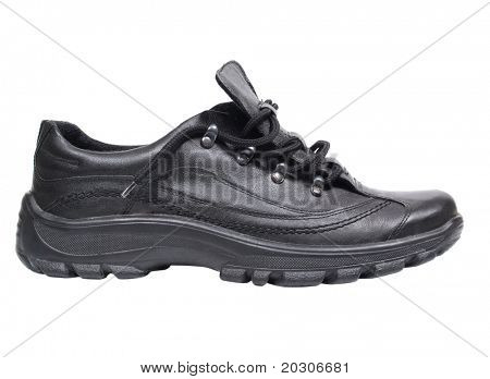 Color photo of men 's shoes on a white background
