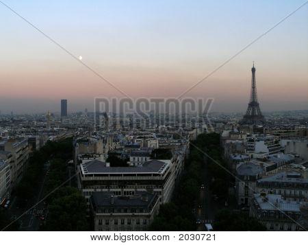 Evening View Over Paris