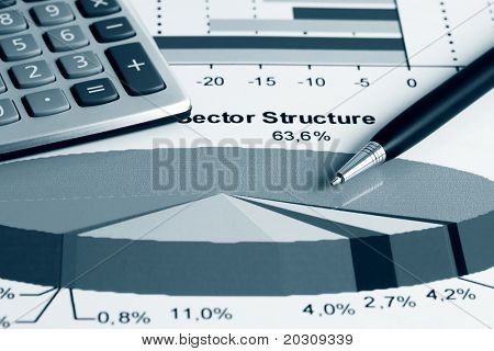 Stock market sector structure.