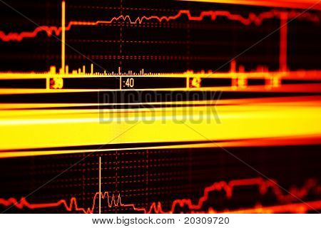 Stock index dynamics on the lcd screen.