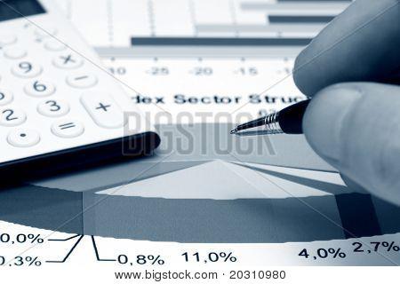 Analyse der Aktienmarkt Sektorstruktur.