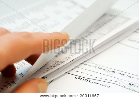 Analysis of business reports.
