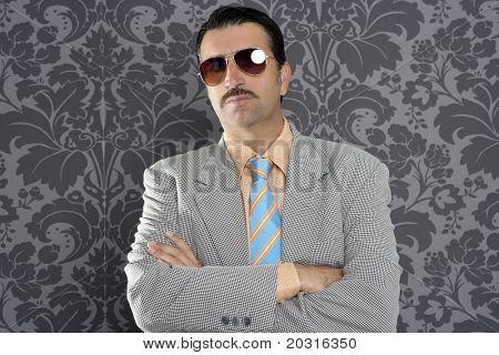 nerd serious proud businessman sunglasses portrait wallpaper background