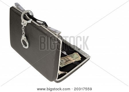 Hard-shell Briefcase And Handcuffs