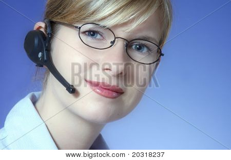 woman with headset (very clear image)