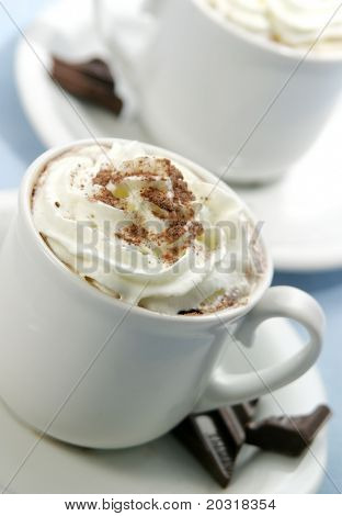 cappuchino or hot chocolate