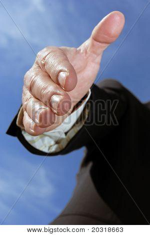 stretching hand