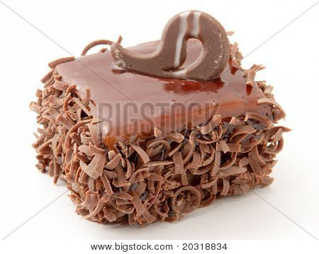 isolated fine chocolate cake