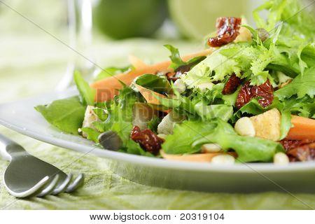 close-up de salada