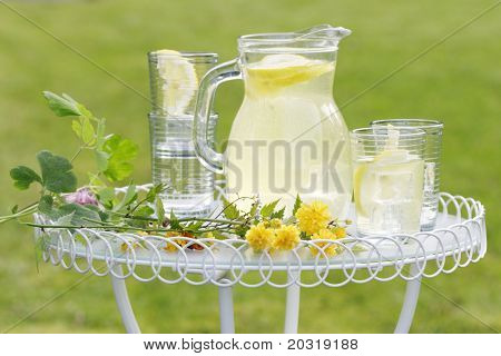lemonade in the garden