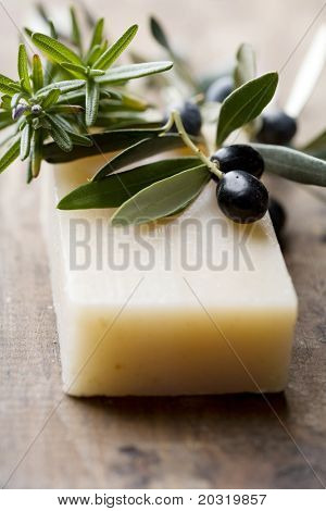 olive and rosemary soap