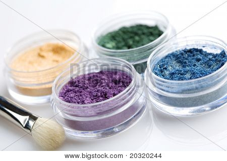 palette of powder eyeshadows