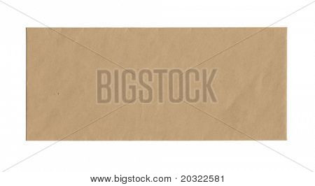 Frente de marrón sobre aislado sobre un fondo blanco.