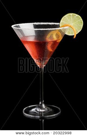 Cosmopolitan isolated on a black background