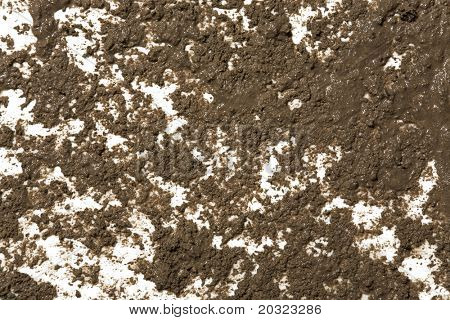 Splattered mud background