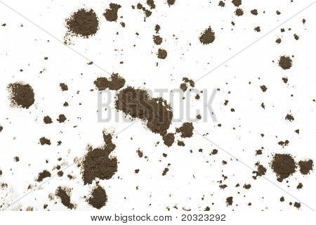 Schlamm Splat Muster isolated on a white background
