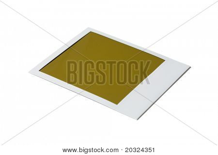 Single blank poloroid film isolated on a white background
