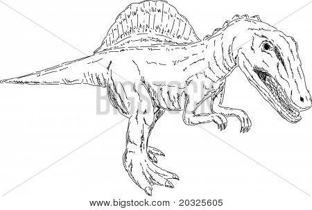vector - dino - Spinosaurus -  isolated on background