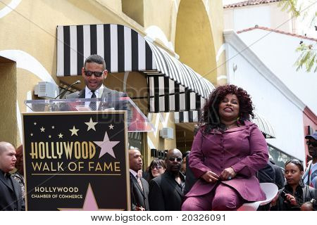LOS ANGELES - MAY 19:  Benny Medina, Chaka Kahn at the Chaka Kahn Hollywood Walk of Fame Star Ceremony at Hollywood Blvd on May 19, 2011 in Los Angeles, CA