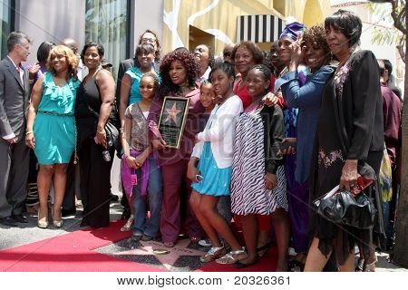 LOS ANGELES - MAY 19:  Chaka Kahn & Mother Sandra, family at the Chaka Kahn Hollywood Walk of Fame Star Ceremony at Hollywood Blvd on May 19, 2011 in Los Angeles, CA.