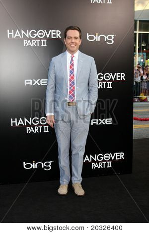 "LOS ANGELES - MAY 19:  Ed Helms arriving at the ""The Hangover Part II""  Premiere at Grauman's Chinese Theater on May 19, 2011 in Los Angeles, CA"
