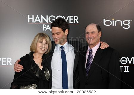 """LOS ANGELES - MAY 19:  Justin Bartha, Parents arriving at the """"The Hangover Part II""""  Premiere at Grauman's Chinese Theater on May 19, 2011 in Los Angeles, CA"""