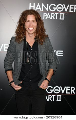 "LOS ANGELES - MAY 19:  Shaun White arriving at the ""The Hangover Part II""  Premiere at Grauman's Chinese Theater on May 19, 2011 in Los Angeles, CA"