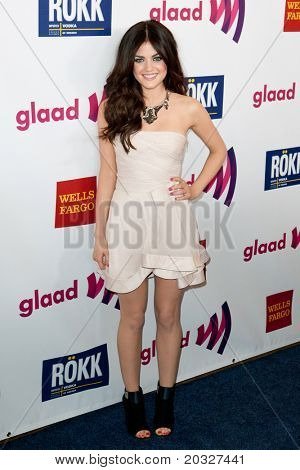 LOS ANGELES - APR 10: Lucy McHale arrives at the 22nd annual GLAAD Media Awards at Westin Bonaventure Hotel on April 10, 2011 in Los Angeles, CA.
