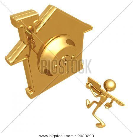 Golden House Key