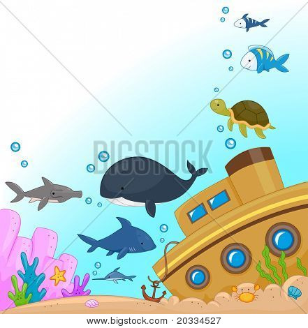 Illustration of Animals Under the Sea
