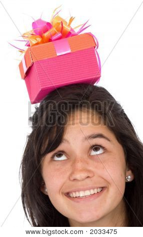 Girl With Gift On Top